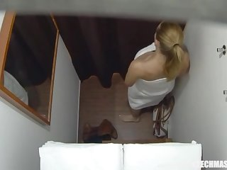 Buxom Married Instructor Gets Rubdown of Her Bound