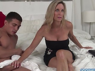 Provocative Taut Ma Smooches Her Junior Trainer With Humungous Man Sausage