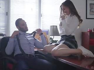 Lewd college chick Danni Rivers is having crazy sex fun with their way teacher
