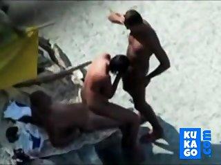 Nude Lakeshore - Nice Bareback Threesome