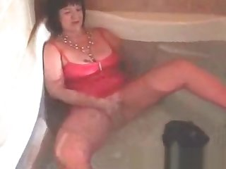 My MILF Exposed Kinky granny wife playing with her wrinkled