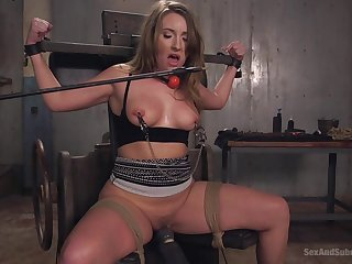 The best role be worthwhile for Harley Puncture is a sex slave and she plays it today