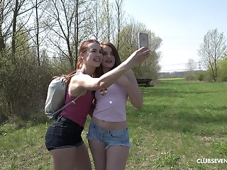 Do research lesbian fingering and licking Charli Red wants on touching cum badly