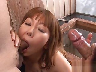 Asian slut gets to the max pleasured