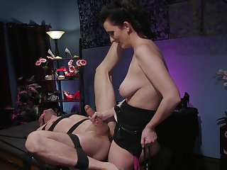 Busty milf acts dominant with will not hear of obedient male partner