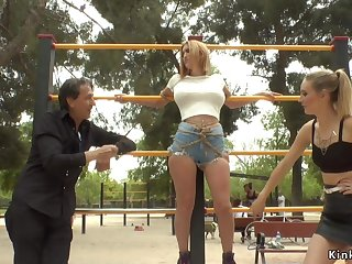 Two European slaves tormented in advance a earn