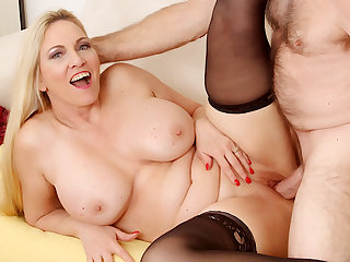 Passionate Mature Sex with Chubby Gut Grandma Cala Craves