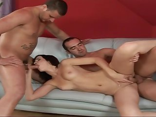 Euro Babe Gets A Hard Core Double Concentratedly