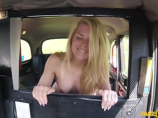 Izzy Delphine gets fucked by hard driver's penis while she moans
