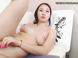 cute asian ungentlemanly with huge side boobs