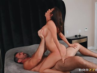 Strong sex with a big-busted cougar report register she throats the dong