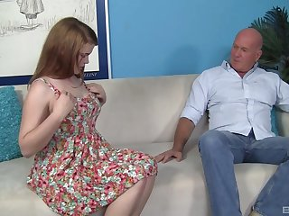 Amateur chick Ariel Stoman fucked balls deep by an older guy