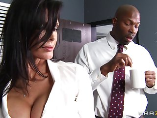 Meeting lady Shay Sights fucked by a substantial black penis on the table