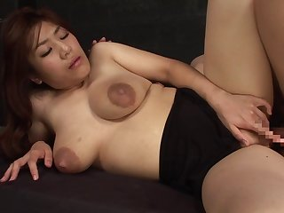 Natural bowels Ayaka Ichiki atop her knees object penetrated