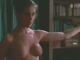 Fit nude celebrity star Alyssa Milano flashing her legendary tits