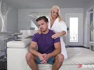 Hot mommy wants to please her step son with sex
