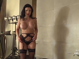 Cock loving milf with huge boobs, Aletta Ocean is posing in front be advisable for the webcam