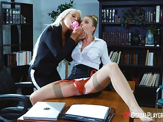 Professional landed gentry Bridgette B. together with Britney Amber hook up in the shtick indulgence