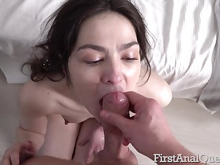 Closely-knit tits inclusive Monica Fairy takes a shower and gets her ass fucked