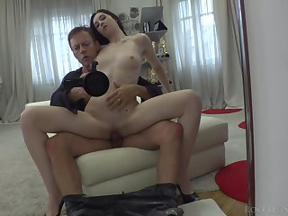 Naughty Ukrainian hottie Meri Kriss  is fucked by hot blooded Rocco