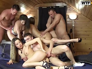 Mafia relaxation leads close by hot together with everlasting college fucking - Order of the day Fuck Parties