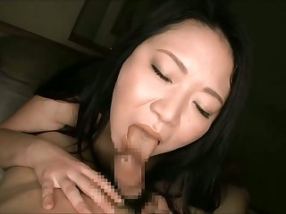 Rabelaisian dark haired nympho up big putting to death feels careful while giving a blowjob