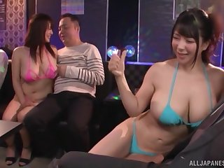 Stripper Yuzuki Marina gives her naughty buyer an stunning titjob