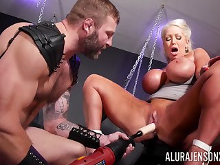 Guestimated BDSM pussy and anal be worthwhile for a big pest cougar on exhilaration