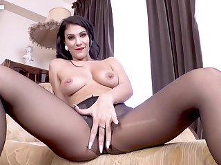 Sultry Joi in pantyhose - fetish solo video