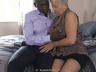 Giant Tit Grandma With A Cock-Squeezing Labia