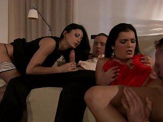 Fine women swap partners for increased pleasure