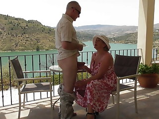 Mature busty wife gets fisting with amazing view