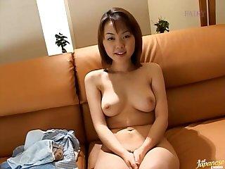 Natural tits Japanese girl Ai Misaki moans while getting fucked